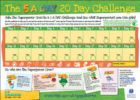 5 A DAY wallchart