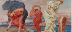 Greek girls picking up pebbles by the sea, Frederic Leighton