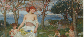 A Song of Springtime, J.W. Waterhouse