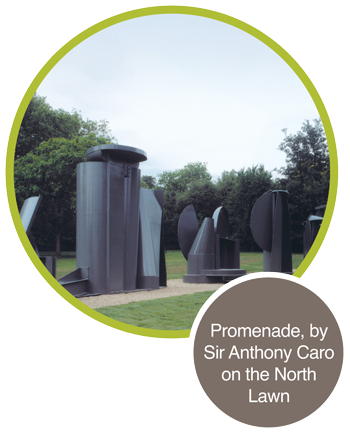 Promenade, by Sir Anthony Caro on the North Lawn